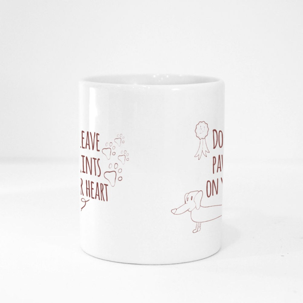 Dogs Leave Paw Prints Magic Mugs