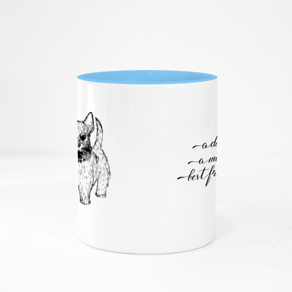 a Dog Is a Man's Best Friend Colour Mugs