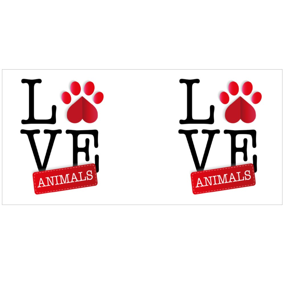 Love Animals With Red Paws Magic Mugs