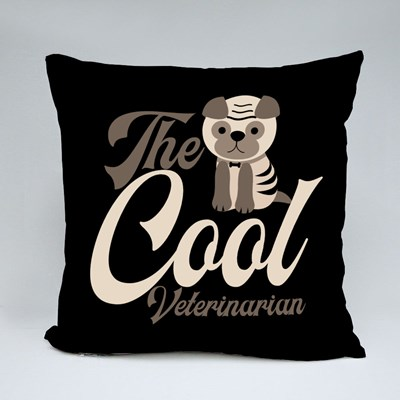 The Cool Veterinarian Throw Pillows