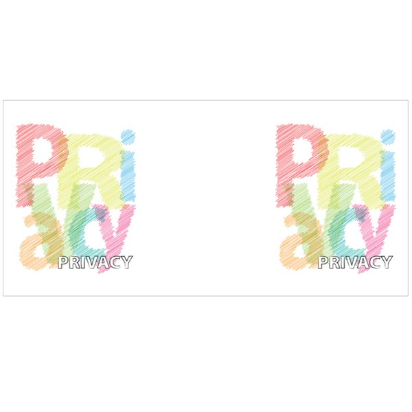 Privacy Scrawled Style Colour Mugs