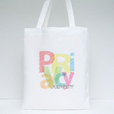 Privacy Scrawled Style Tote Bags