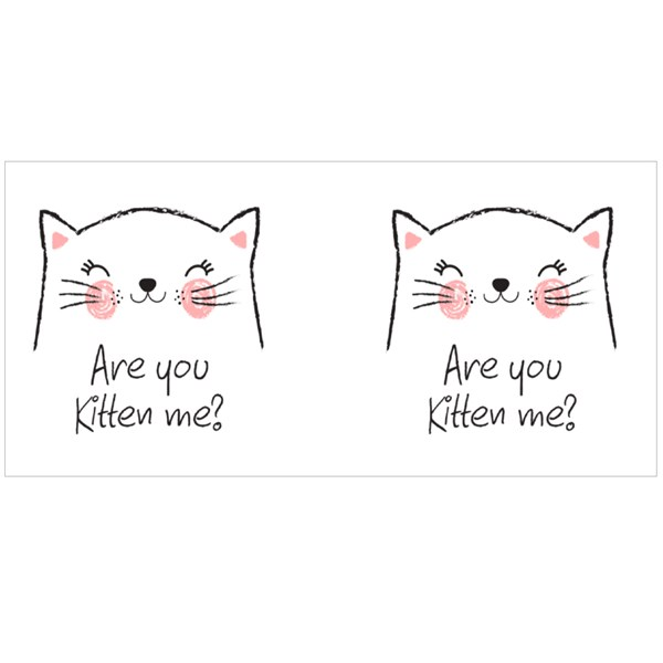 Are You Kitten Me Colour Mugs