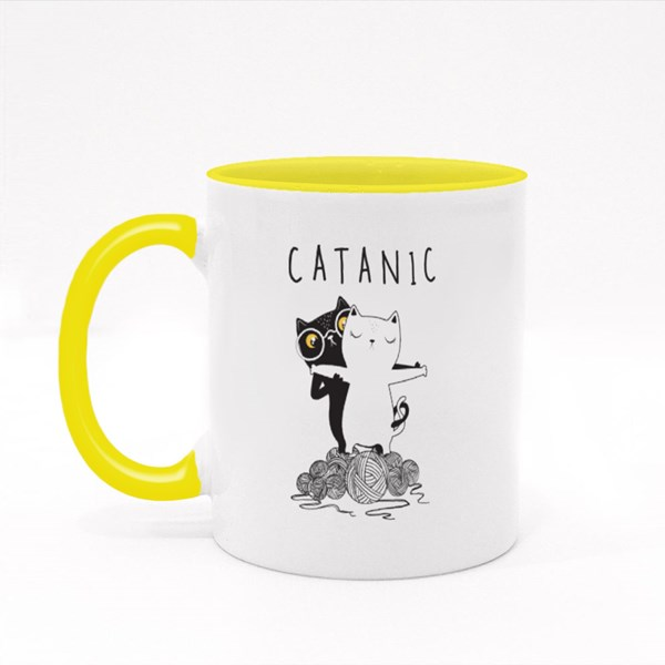 Catanic Cute Cats Colour Mugs