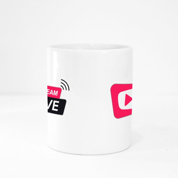 Stream Live Icon Colour Mugs