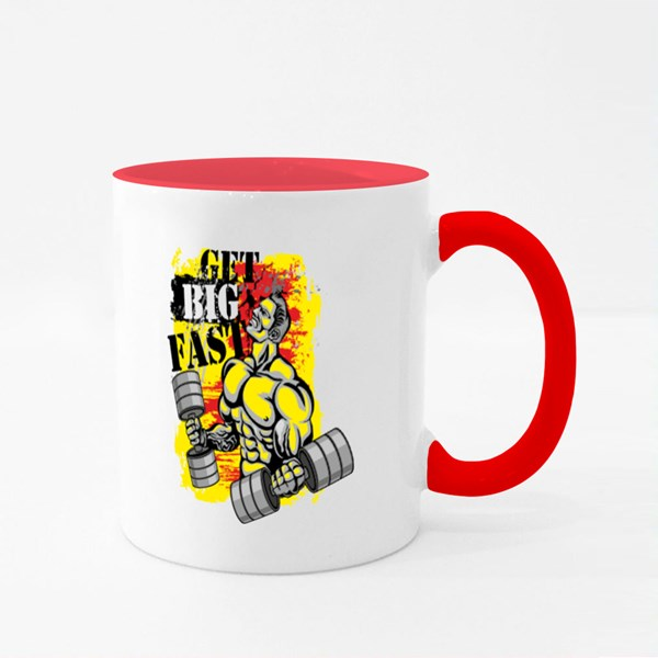 Get Big Fast Red and Yellow Colour Mugs
