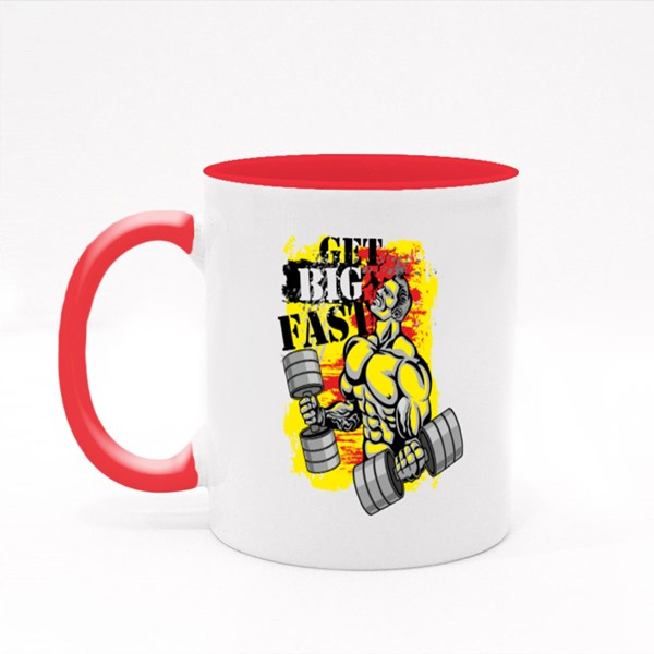 Get Big Fast Red and Yellow 彩色杯