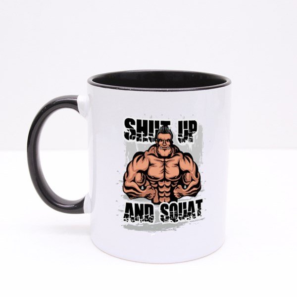 Shut up and Squat Colour Mugs