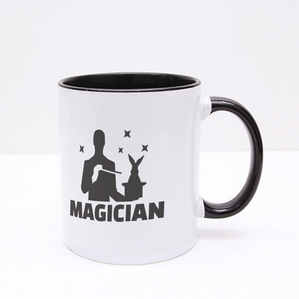 A Magician Doing a Magic Trick Colour Mugs