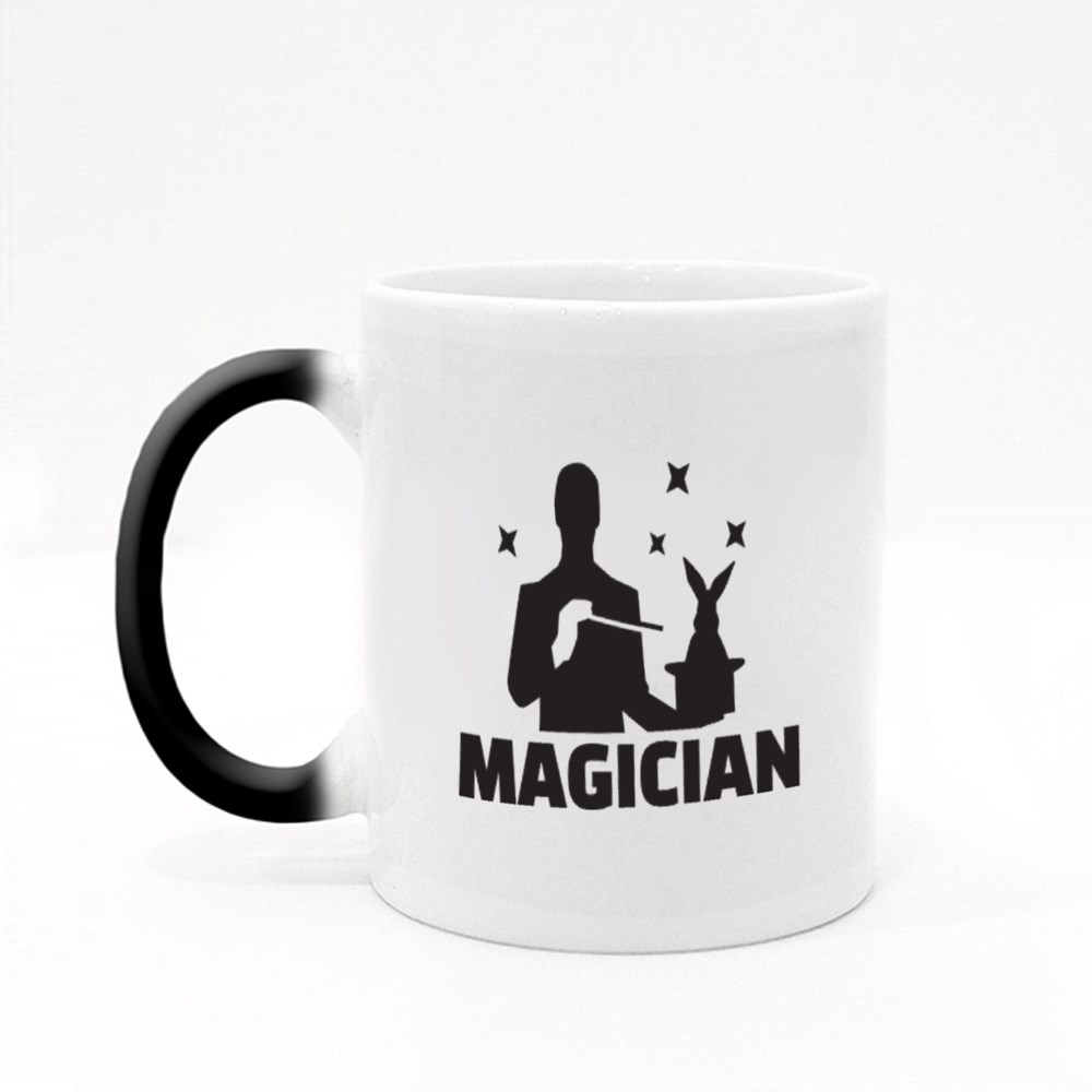 A Magician Doing a Magic Trick Magic Mugs