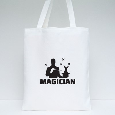 A Magician Doing a Magic Trick Tote Bags