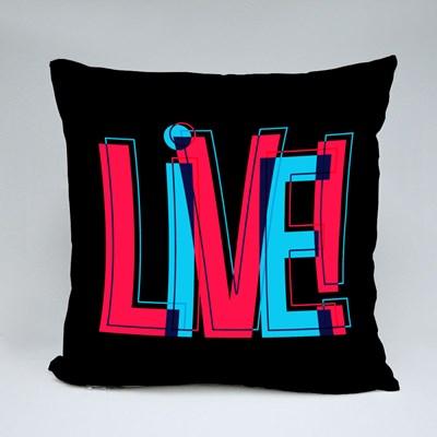 Live Glitchy Sign 抱枕