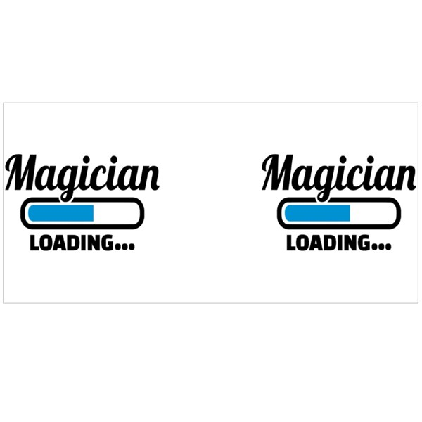 Magician Loading Colour Mugs