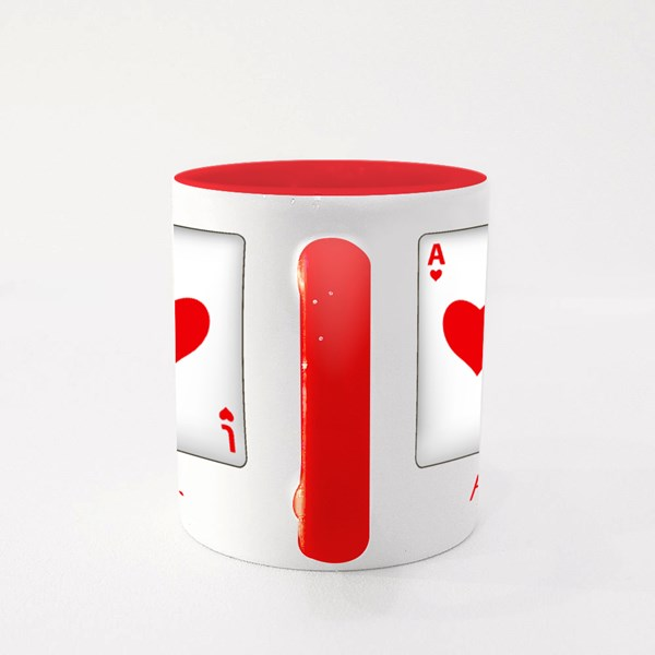 Playing Cards With Friends Colour Mugs