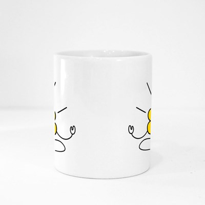 Meditating Brain Icon Magic Mugs