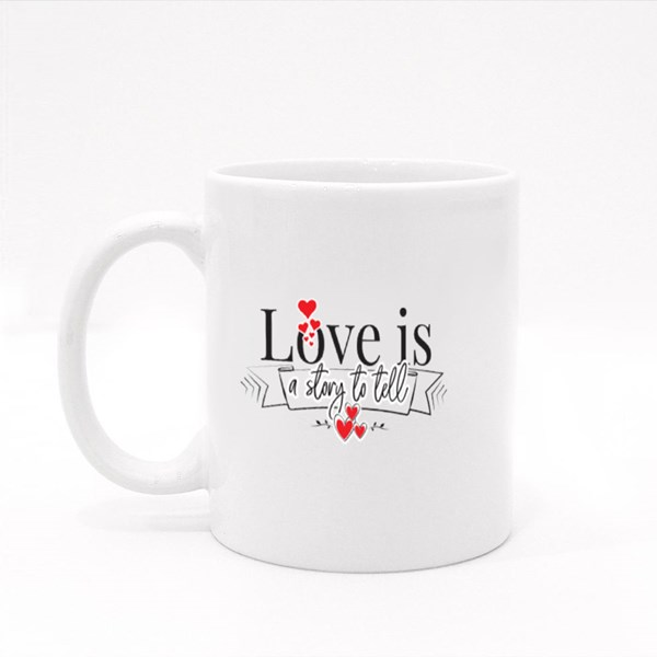 Love Is a Story to Tell Colour Mugs