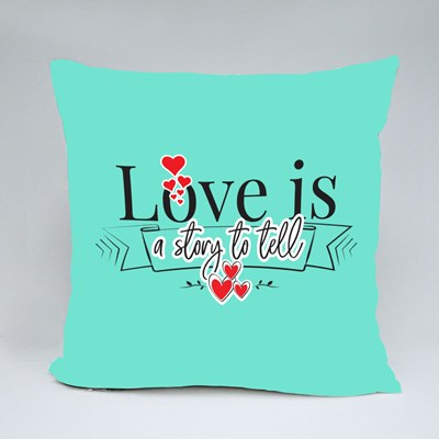 Love Is a Story to Tell Throw Pillows
