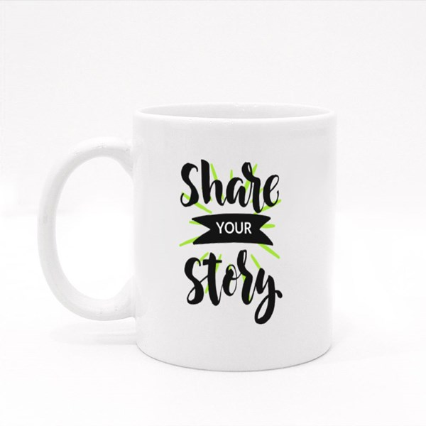 Share Your Story Colour Mugs