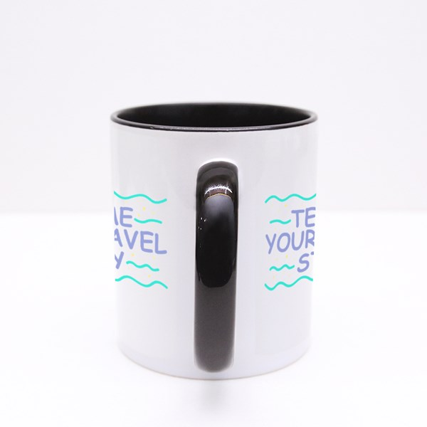 Tell Me Your Travel Story Colour Mugs