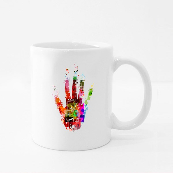 Colorful Music Hand Vector Colour Mugs