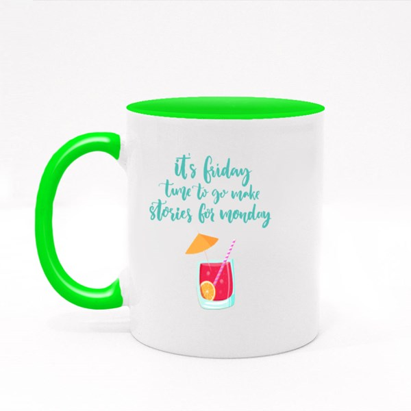 Time to Make Stories Colour Mugs