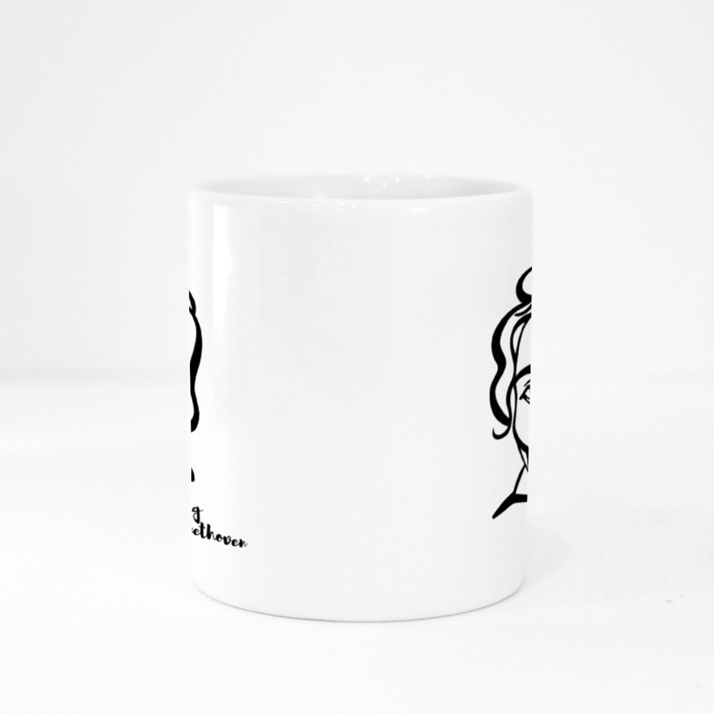 Ludwig Van Beethoven Engraved Colour Mugs