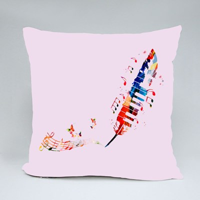 Colorful Music Notes 抱枕