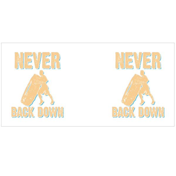 Never Back Down Colour Mugs