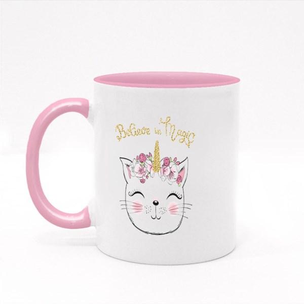 Cute Little Unicorn Kitty Girl Colour Mugs