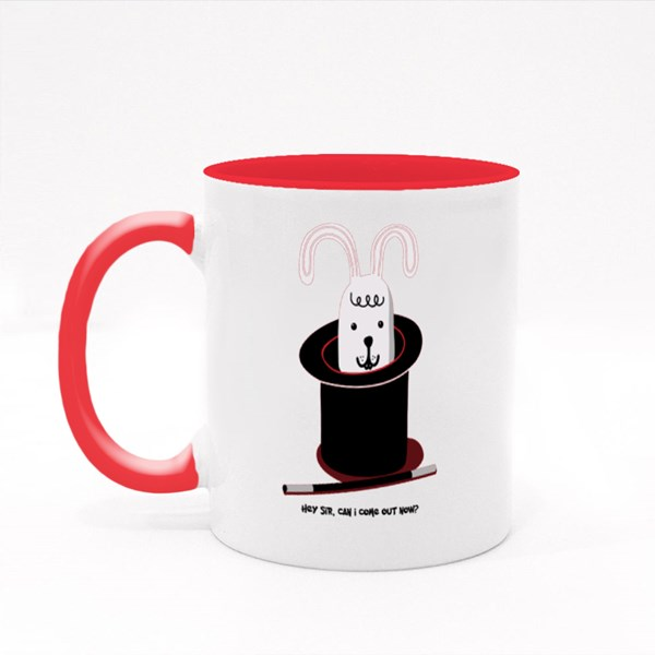Rabbit in Magician Hat Colour Mugs