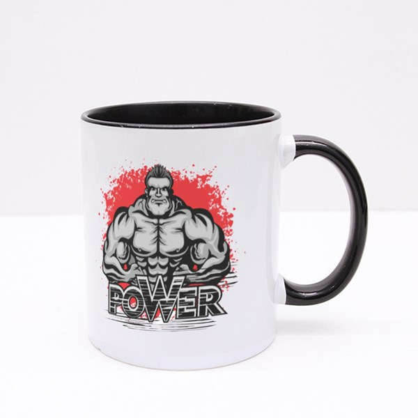 Power With Bodybuilder Colour Mugs