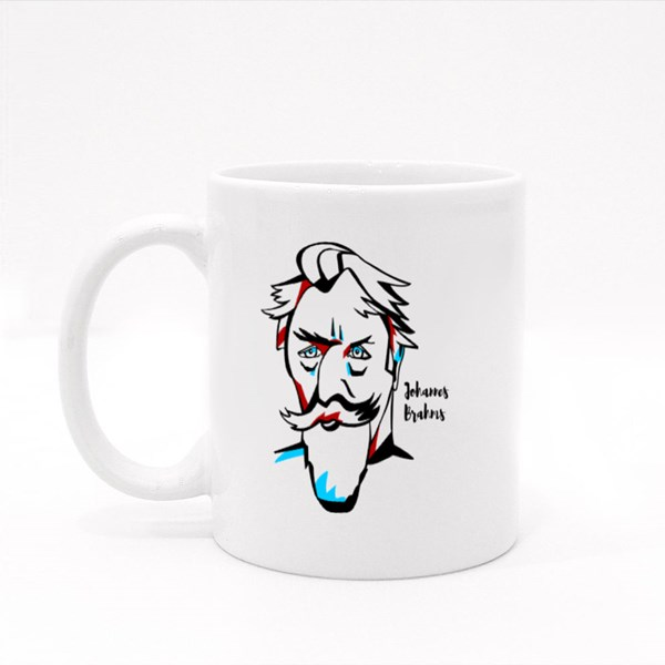 Johannes Brahms Engraved Colour Mugs