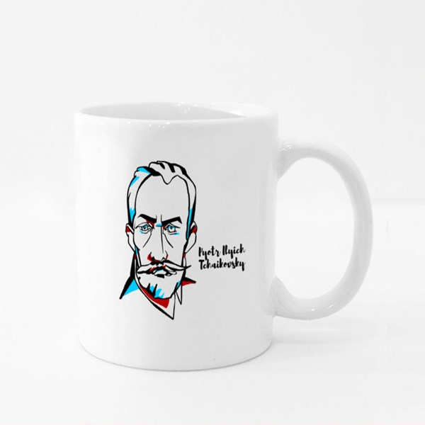 Ilyich Tchaikovsky Engraved Colour Mugs