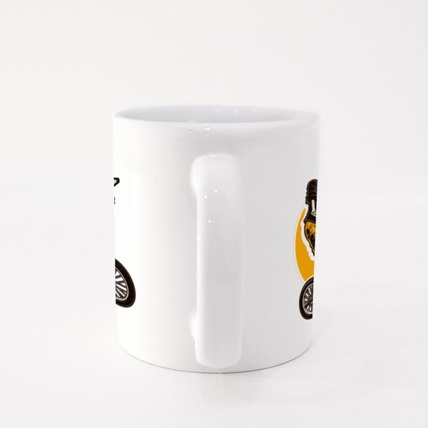 Skeleton on a Bmx Colour Mugs
