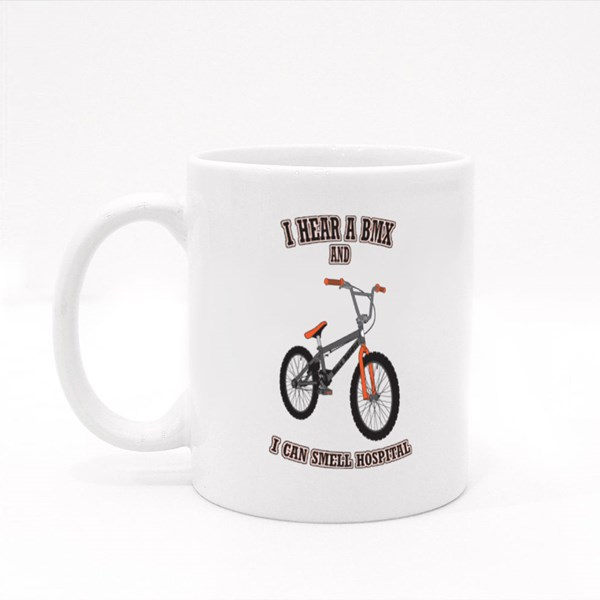 I Hear a Bmx Bike Colour Mugs