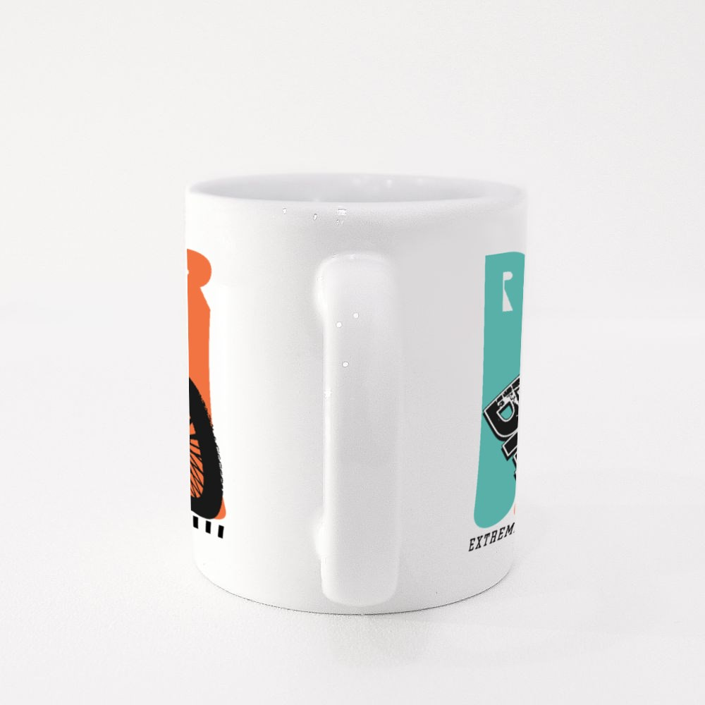 Bmx Rider Extreme Sports Colour Mugs
