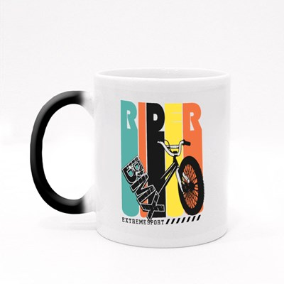 Bmx Rider Extreme Sports Magic Mugs