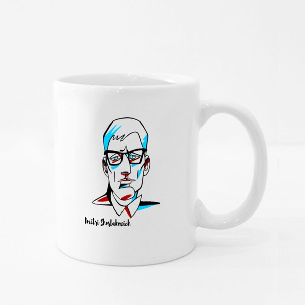 Dmitri Shostakovich Engraved Colour Mugs