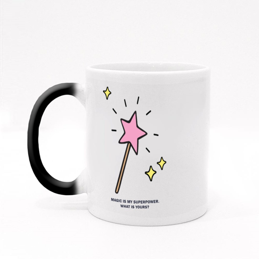 Pink Star Shaped Magic Wand Magic Mugs