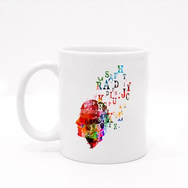 Colorful Human Head Design 彩色杯
