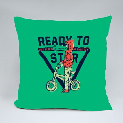 Rready to Star Bmx Throw Pillows