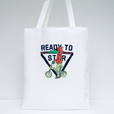 Rready to Star Bmx Tote Bags