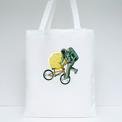 Astronaut Freestyle Bmx Tote Bags