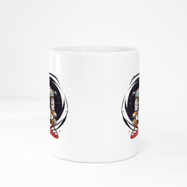Astronaut Rides Bmx Colour Mugs