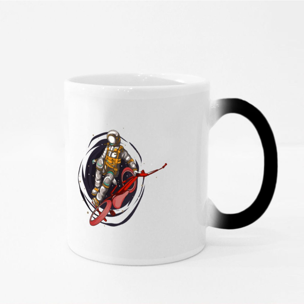 Astronaut Rides Bmx Magic Mugs