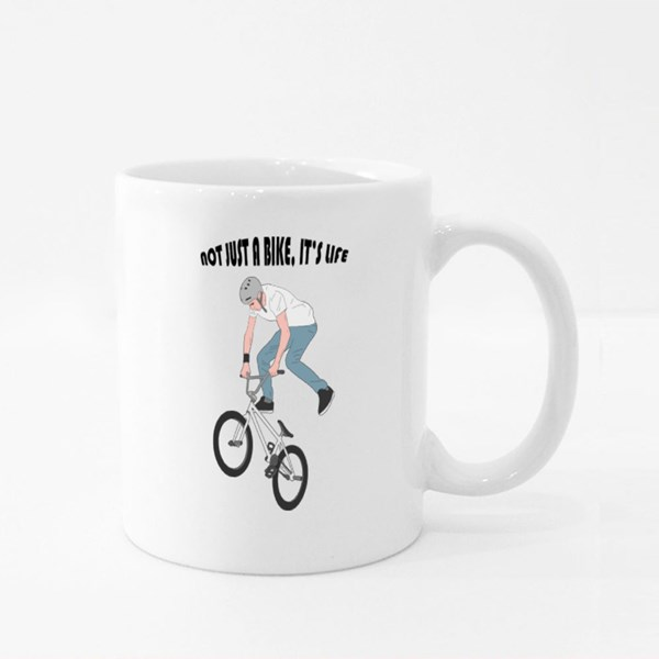 Not Just a Bike, It's Life Colour Mugs