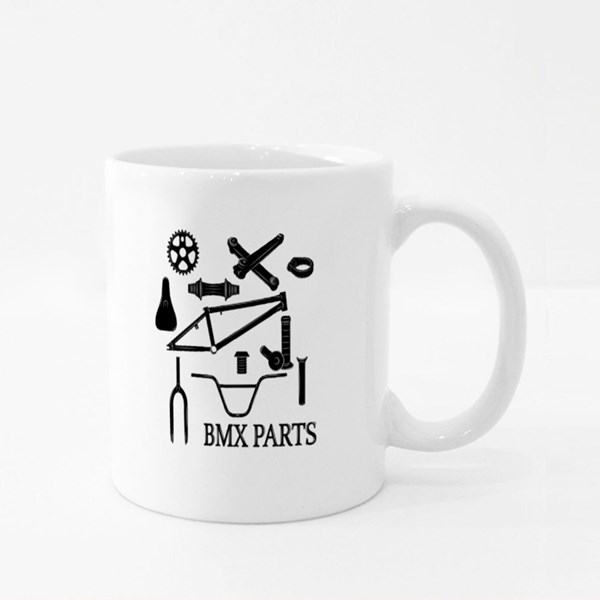 Set of Bmx Parts Icons Colour Mugs