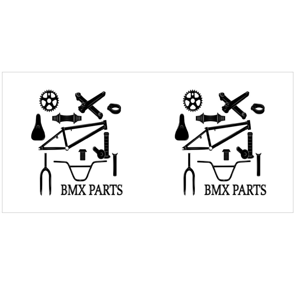 Set of Bmx Parts Icons Magic Mugs