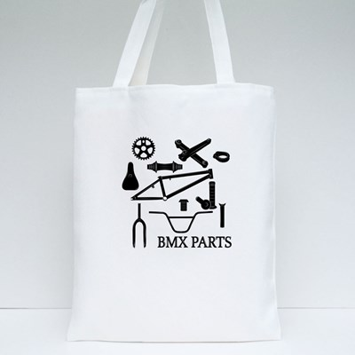 Set of Bmx Parts Icons Tote Bags