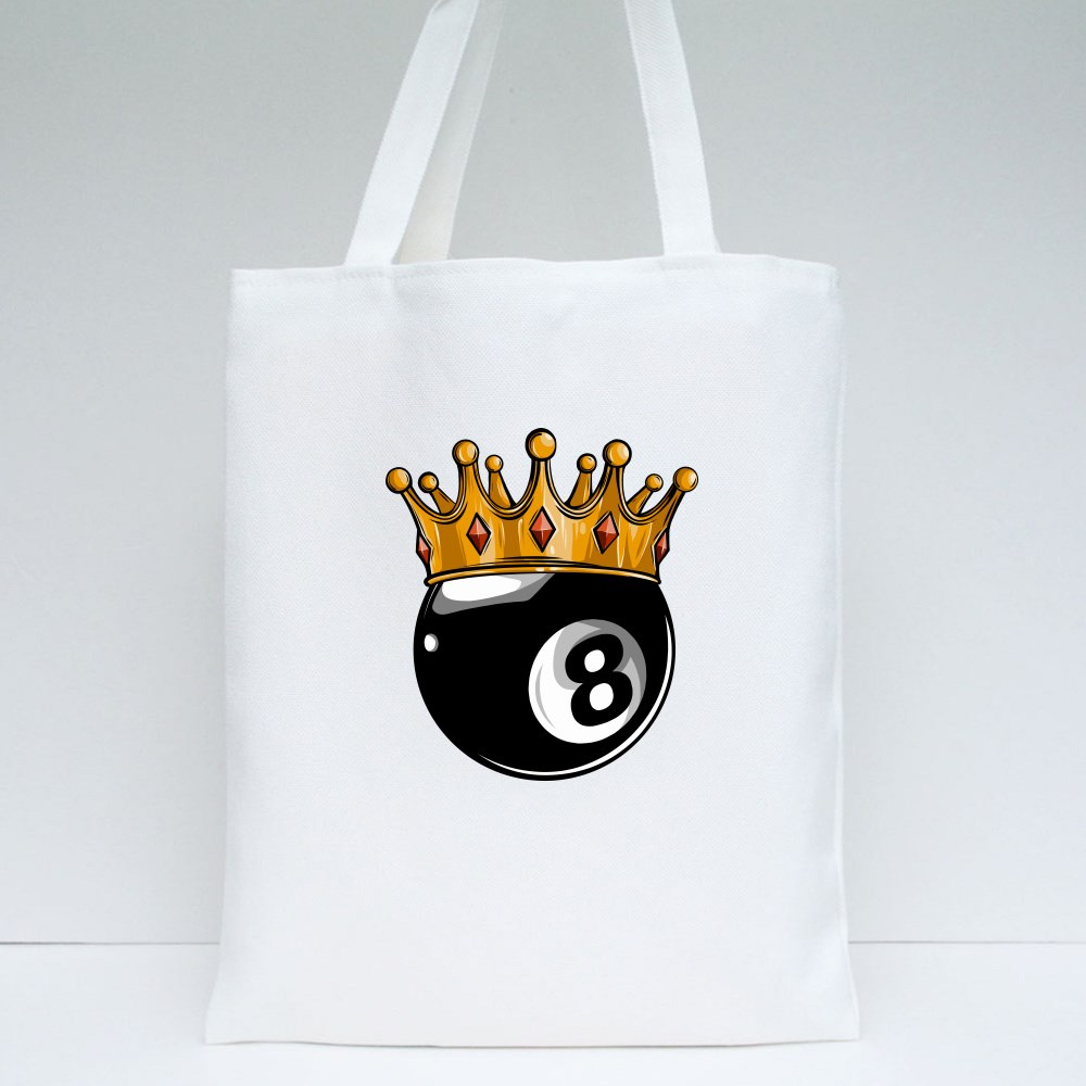 Gold Crown on a Billiard Tote Bags